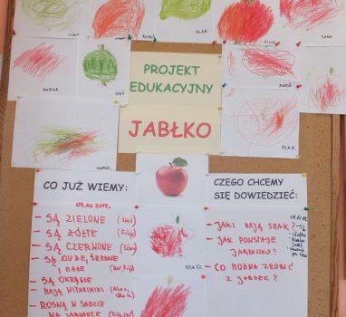Projekt edukacyjny – JABŁKO 07.10 – 18.10.2019r.